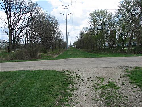 Pecatonica Prairie Trail  Looking East From Near Sumner Park in Pecatonica
