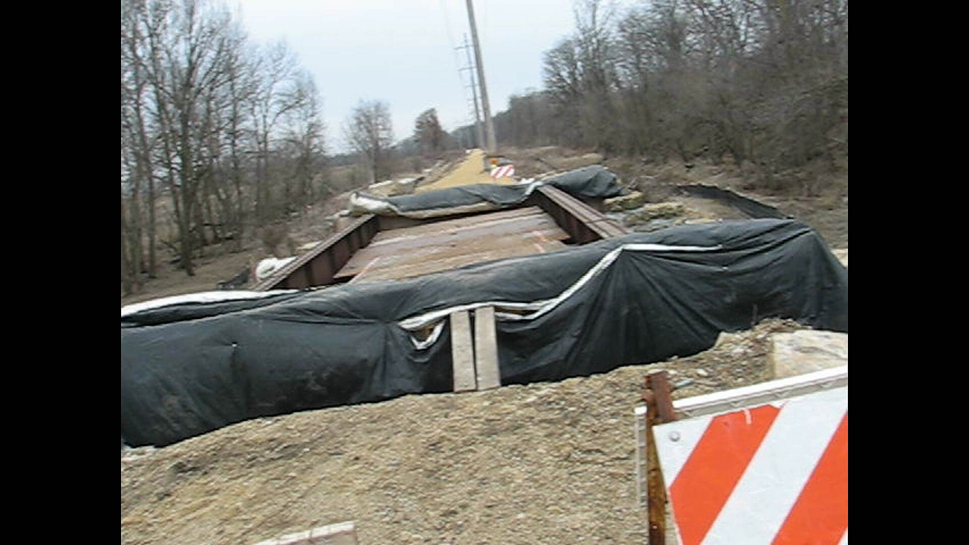 Pecatonica Prairie Trail BRIDGE ABOUT 1/4 MILE EAST OF THE COUNTY LINE 3-30-13 Still closed.