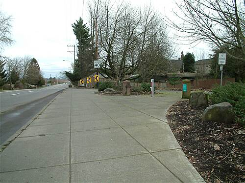 Peninsula Crossing Trail Peninsula Crossing Taril at Columbia Blvd. Looking East towards beginning of Columbia Sough Trail