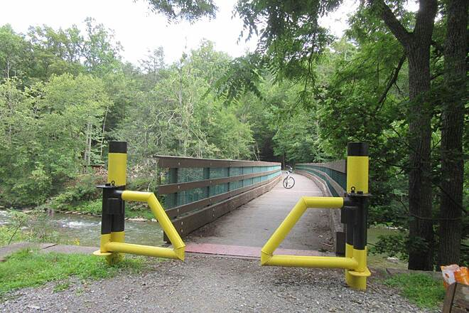 Penns Creek Path (Mid State Trail) Enjoy the new bridge!  Bridge crossing Penns Creek has been completely updated!