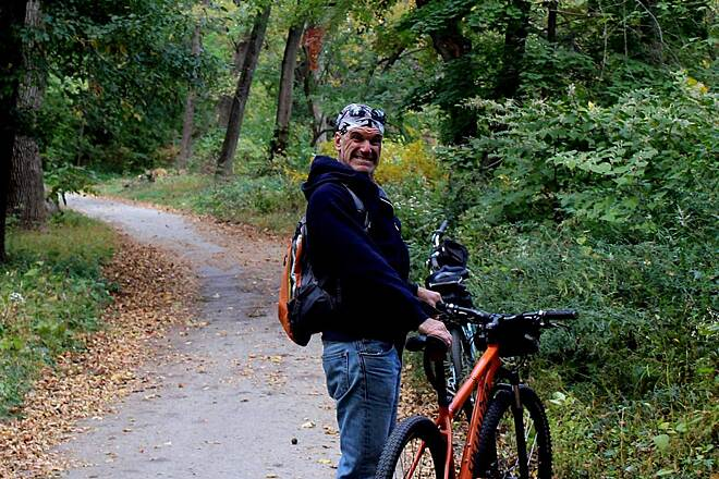 Pennypack Trail Riding along Pennypack