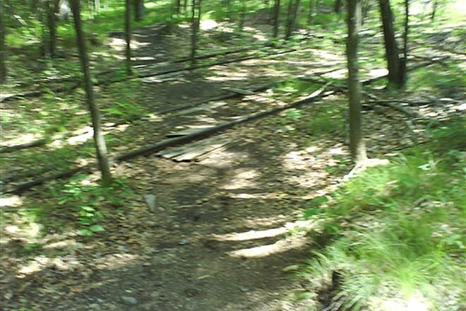 Pequonnock River Trail Double track crossing Fun!!