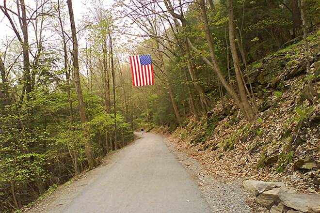 Pequonnock River Trail American Flag