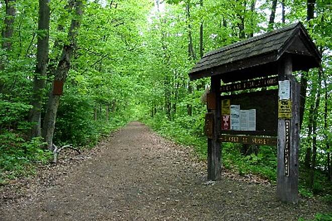 Pequonnock River Trail Housatonic Rail-Trail Trailhead near Tait Road in Trumbull.