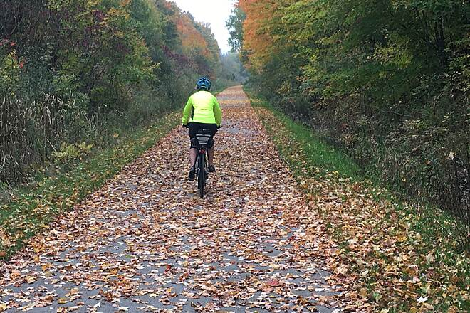 Pere Marquette State Trail Trail just east of Sears Fall ride on Saturday, October 15th, 2016