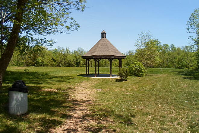 Perkiomen Trail Perkiomen Trail This large gazebo is located just off the trail near Graterford. It's perfect for warm, spring days like the one when this picture was taken in May 2015.