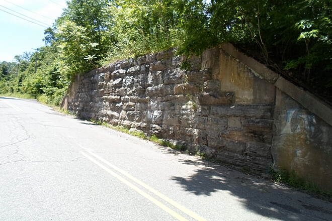 Perkiomen Trail Perkiomen Trail A relic from the days of the RR, this abutment can be seen immediately west of the junction between the trail and Upper Indian Head Road.