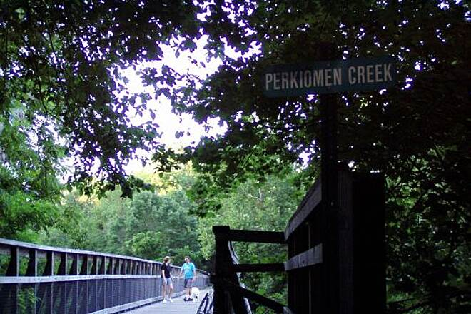 Perkiomen Trail One of the many bridges