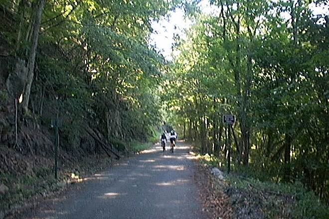 Perkiomen Trail Heading west from Oaks