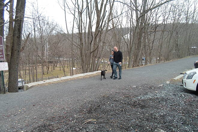 Perkiomen Trail Perkiomen Trail Couple enjoying the trail with their dog on a warm, early spring evening. Taken Apr. 2015 in Spring Mount.