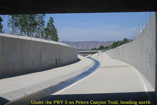 Peters Canyon Trail Under the I-5 Freeway July 2009