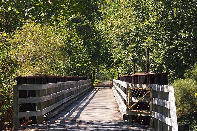 Pine Creek Rail Trail Rail Bridge