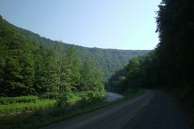 Pine Creek Rail Trail Pa. Grand Canyon rim Pa. Grand Canyon rim
