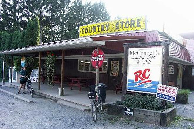 Pine Creek Rail Trail Country Store In Waterville village this country store is located right on the trail.  Great for drinks, lunch and great fly fishing section.  Store is very friendly with bikers.