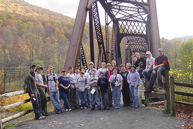 Pine Creek Rail Trail boy scout troop 370  20 mile hike participants