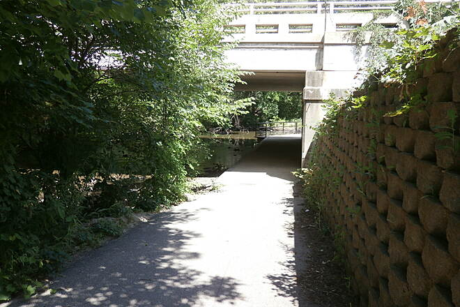 Plaster Creek Trail Madison Underpass Nice start to the shadiest section.