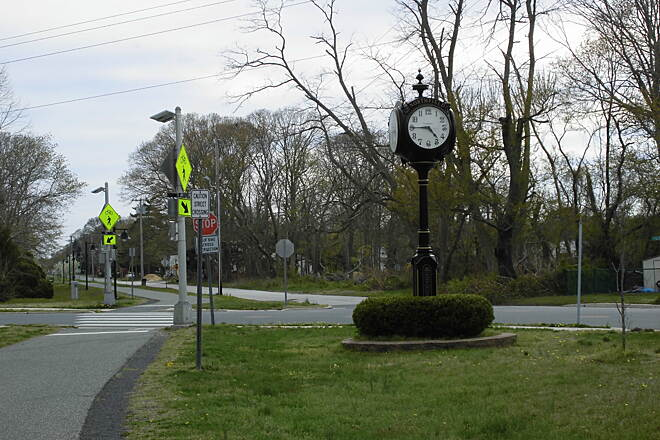 Pleasantville to Somers Point Bike Path Town Clock at Northfield