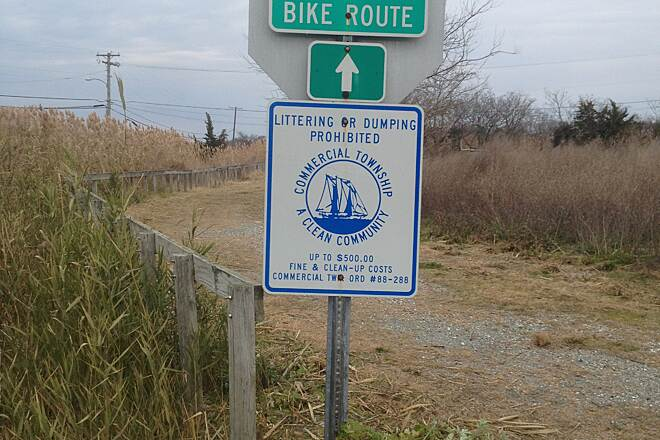 Port Norris Pathway Bayshore Bivalve Sign
