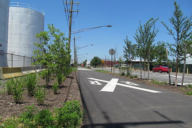 Port Richmond Trail Port Richmond Trail In Summer The south end of the trail looking west.