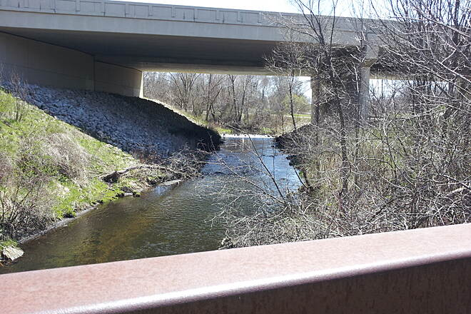 Portage Creek Bicentennial Trail under I-94