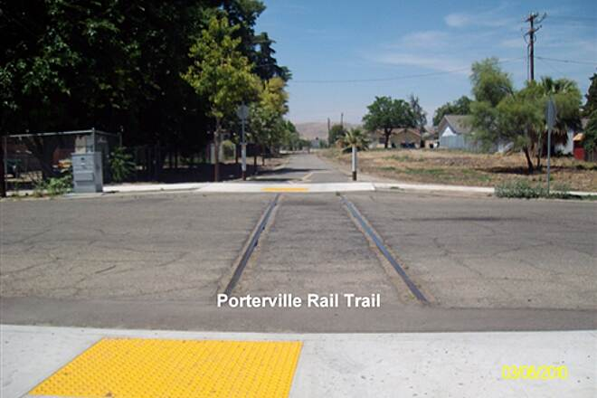 Porterville Rails to Trails Parkway Porterville Rails to Trails Parkway Some Rails still in place.