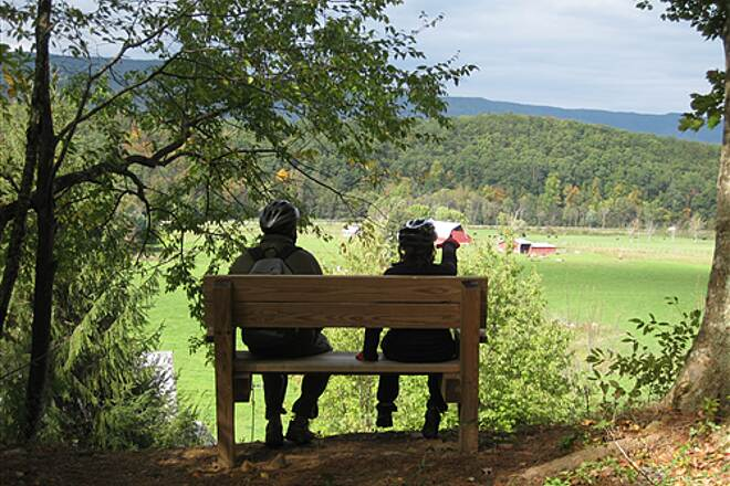 Potts Valley Rail Trail View Perfect spot to take a seat and enjoy the view.