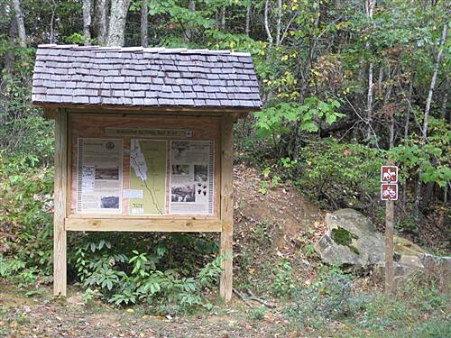 Potts Valley Rail Trail Kiosk Kiosk at the south west end of the trail.