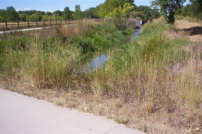 Poudre River Trail Irrigation Ditch All Along Trail