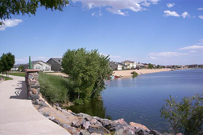 Poudre River Trail Through Neighborhood