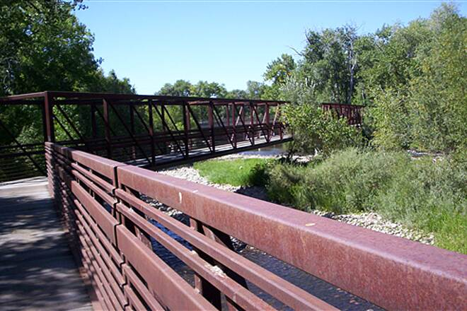 Poudre Trail (Fort Collins) New Box Bridge over the Poudre