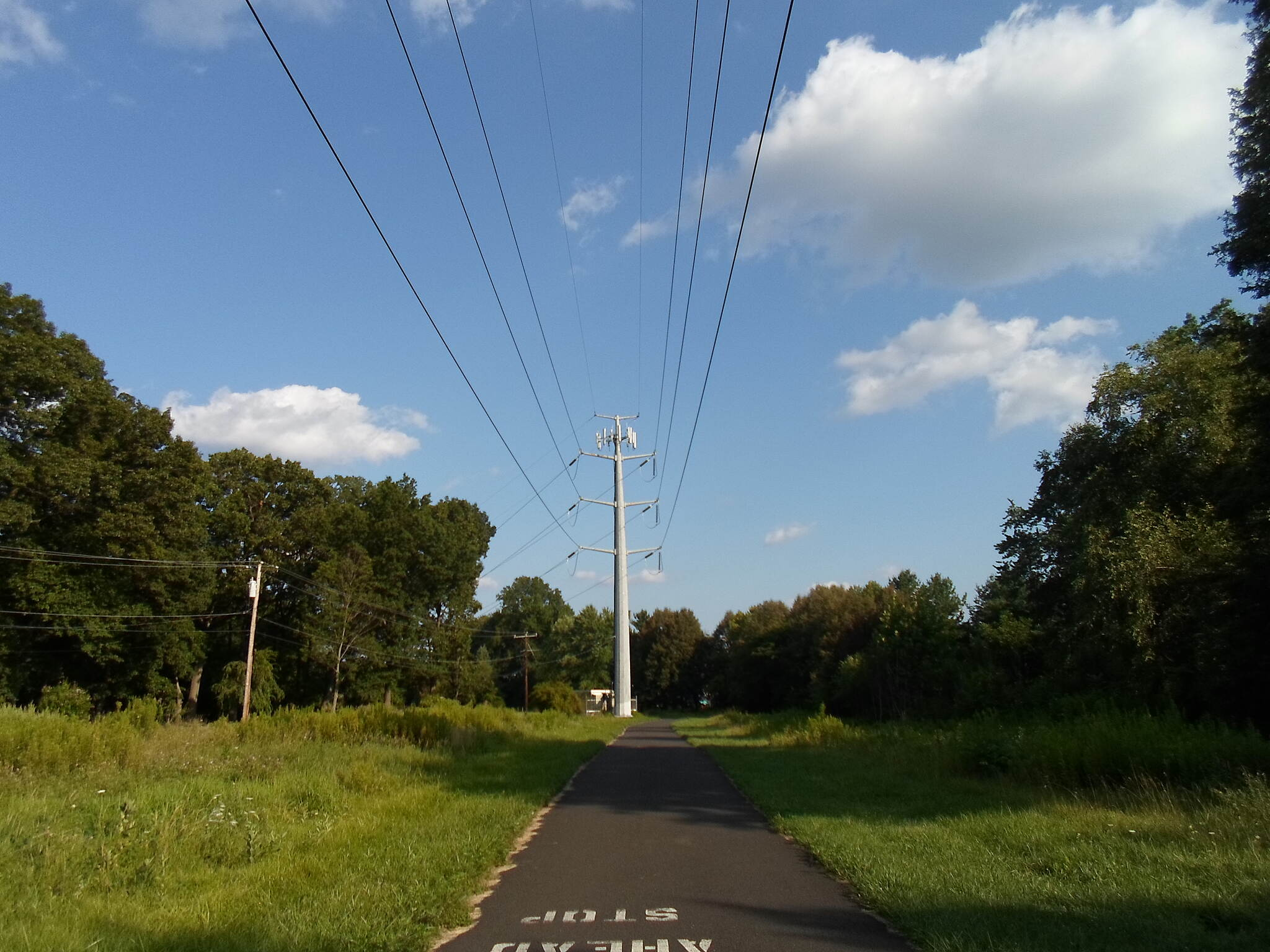 Power Line Trail (PA) Powerline Trail Looking southeast from the Norristown Road crossing. Taken July 2016.