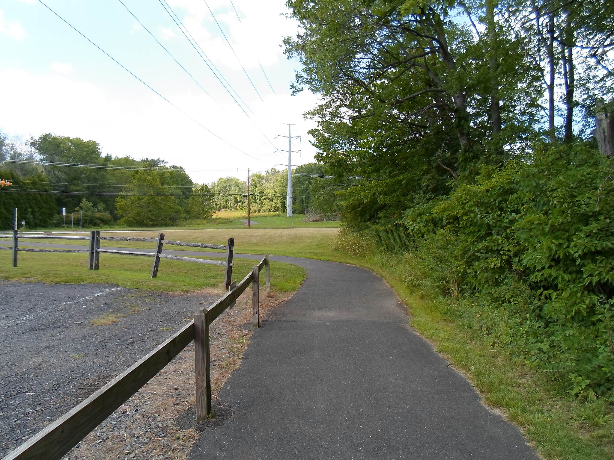 Power Line Trail (PA) Powerline Trail Winding toward Route 152 at Horsham Township Park.