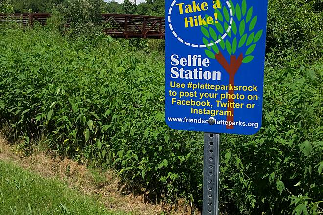 Prairie Creek Greenway  Selfie Station