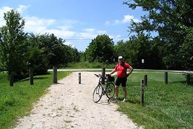 Prairie Spirit Trail State Park  End of Line mile 91 at Welba Wouldn't it be great to be able to continue the ride past here?