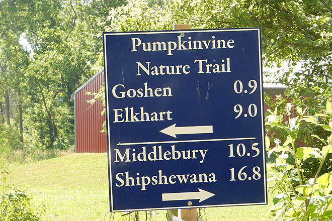 Pumpkinvine Nature Trail Where do I go? Signage is good. 6-25-16