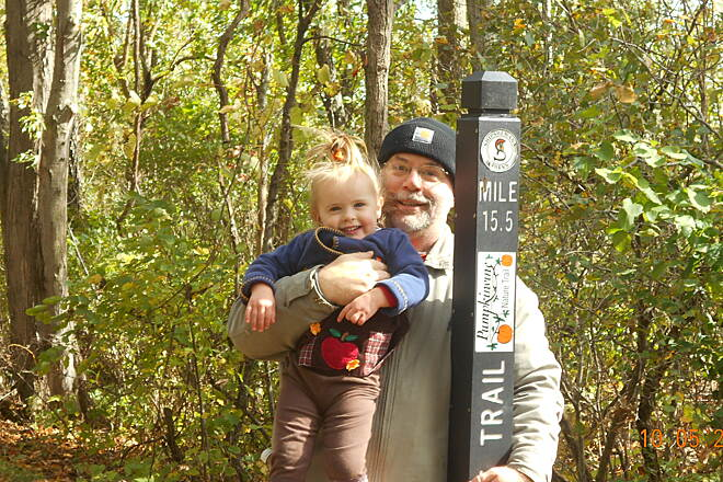 Pumpkinvine Nature Trail Me & Grampa on the vine