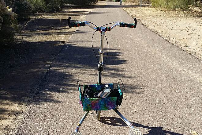 Queen Creek Wash Trail Trikking in Arizona On T8   I am 35 280lb and was looking for a place to Trikke that would be smooth and have not to many large hills this is amazing I did the whole trail in less the 1 hour both ways. I recommend this for Trikke with poly wheel or air