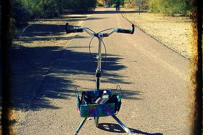 Queen Creek Wash Trail Here is a better photo Her is a photo of my trikke