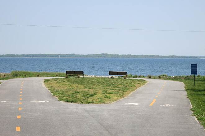 Quonset Point Bike Path Eastern end