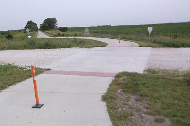 Raccoon River Valley Trail paved road crossings Lots of main trail loop road crossings are paved.