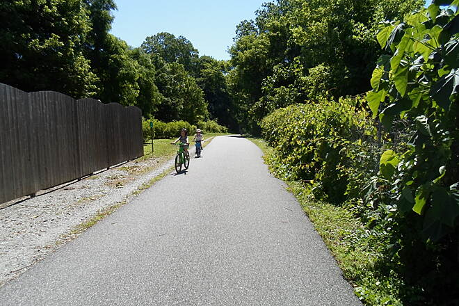 Radnor Trail Radnor Trail These kids were enjoying a day on the trail near its western terminus. Taken July 2014.