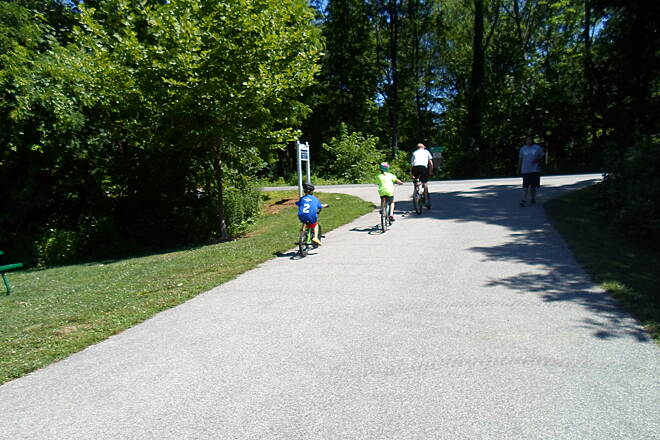Radnor Trail Radnor Trail Kids following their dad onto the trail from Friends of the Radnor Trails Park. Taken July 2014.
