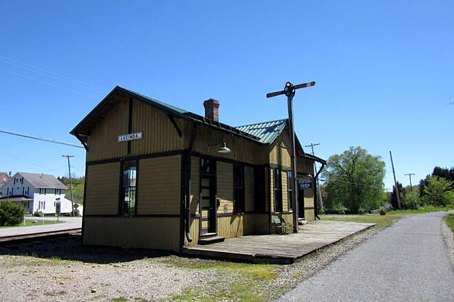 Rail 66 Country Trail Luncinda PA Old train station in Lucinda PA