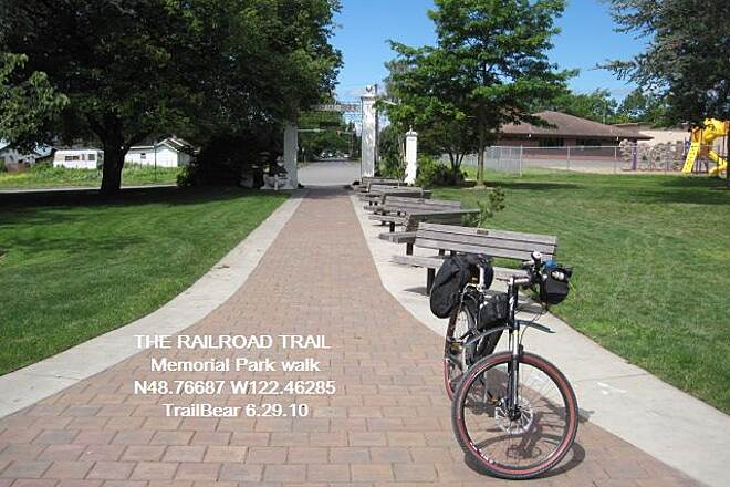 Railroad Trail (WA) THE RAILROAD TRAIL Memorial Park - the other trail end.