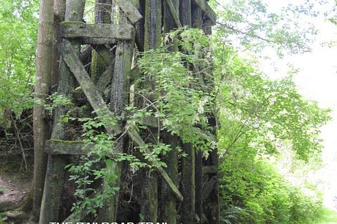 Railroad Trail (WA) THE RAILROAD TRAIL All that remains of the trestle.