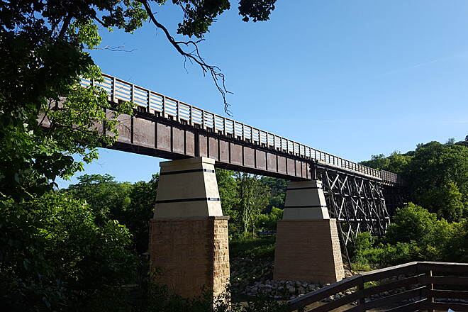 Red Jacket Trail Trestle over the LeSueur River