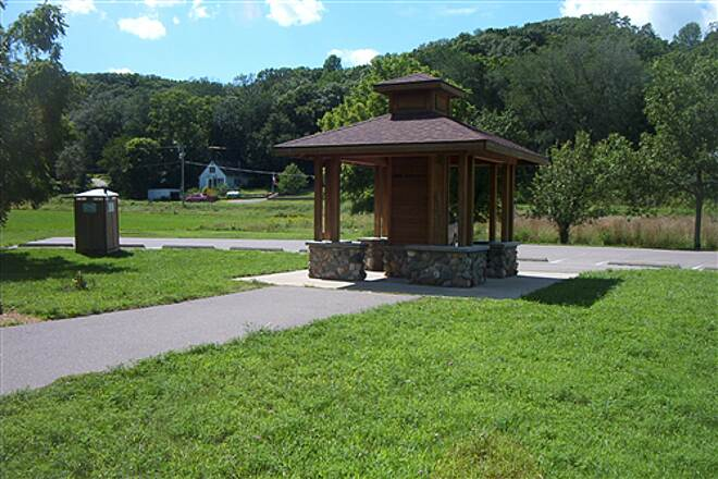 Red Jacket Trail Weagel Park Weagel Park: Small rest stop/kiosk on Mkto end.