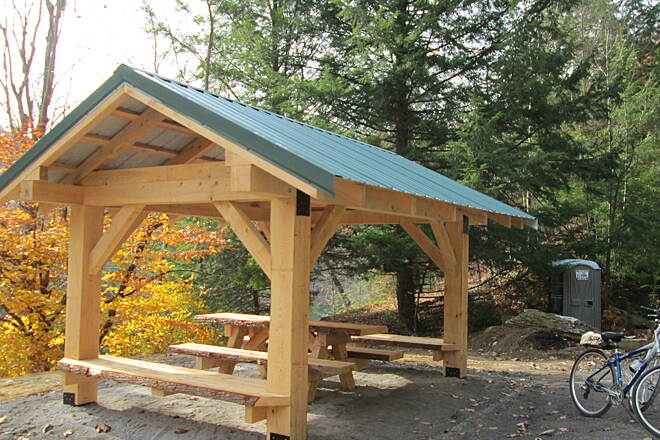 Redbank Valley Rail Trail Picnic Table What a great place to enjoy your lunch with a view of Redbank Creek