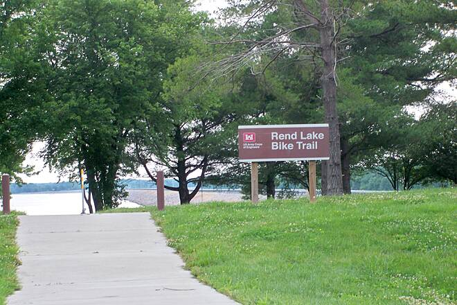 Rend Lake Illinois Map.Rend Lake Bike Trail In Illinois Traillink