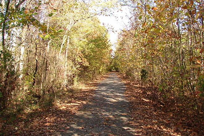 Richard Martin Trail Rails to Trails Rails to Trails in Elkmont, AL offers beautiful fall colors